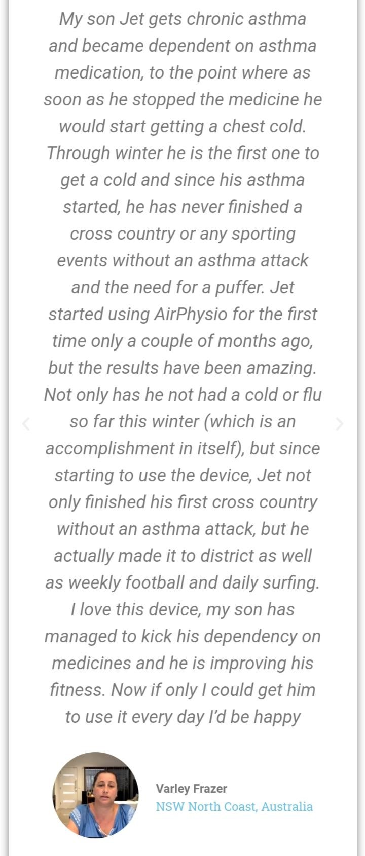 Customer Reviews On AirPhysio For Children 2