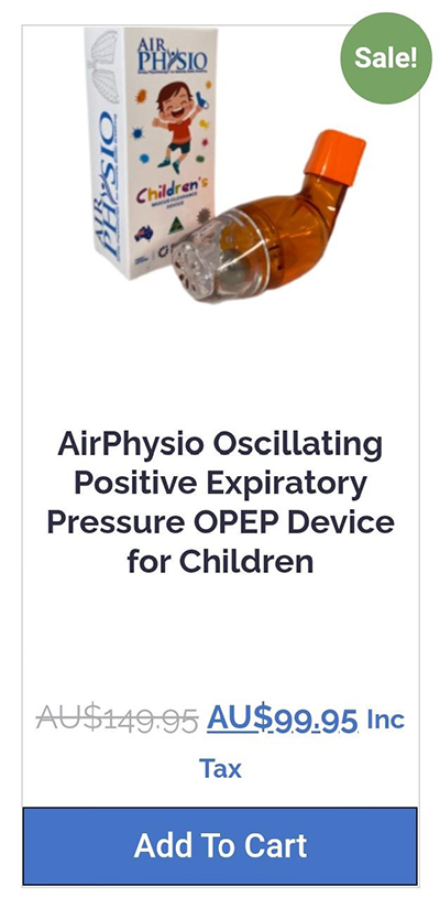 Where Can I Buy AirPhysio For Children